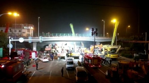 Deaths reported as bridge collapses in China's Jiangsu province