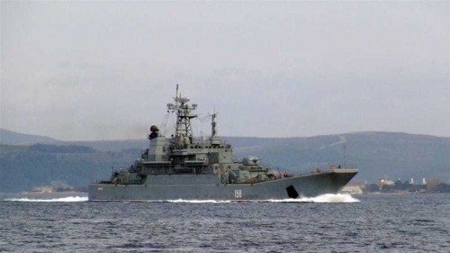 Russian warship fires warning shots near Turkish vessel
