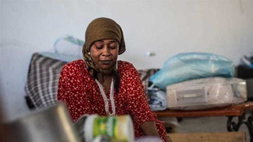 The Sudanese stuck in an improvised camp in Libya