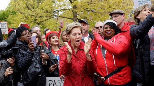 Striking Chicago teachers march through morning rush hour traffic
