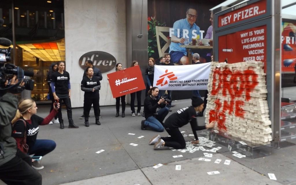 MSF protests price of Pfizer pneumonia vaccine