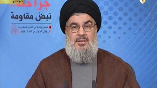 Hezbollah leader vows to continue Syria fight