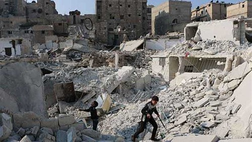 Deaths reported in Syrian bombing in Aleppo