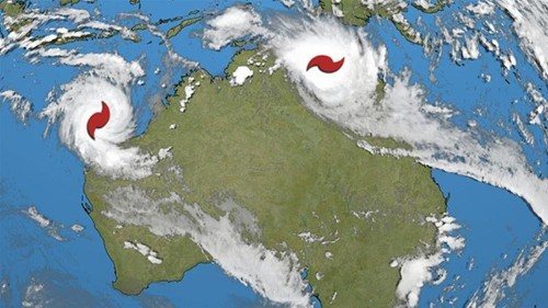 Evacuations in Australia as two powerful cyclones approach