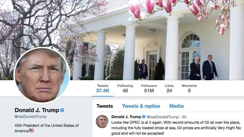 Twitter says no sanctions against Trump for abusive tweets