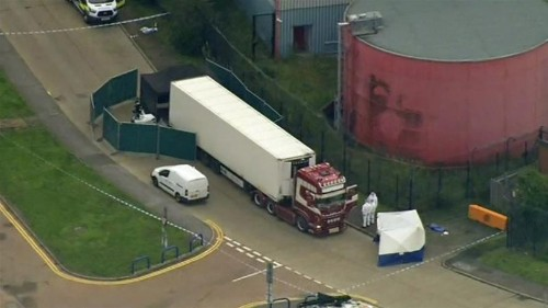 UK police say 39 bodies found in Essex lorry