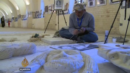 Iraqis mourn destruction of ancient Assyrian statues