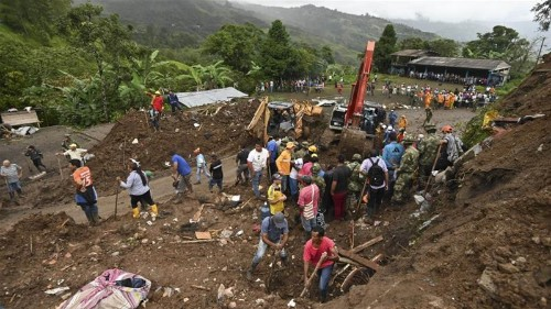 Colombia landslide kills villagers on Easter Sunday