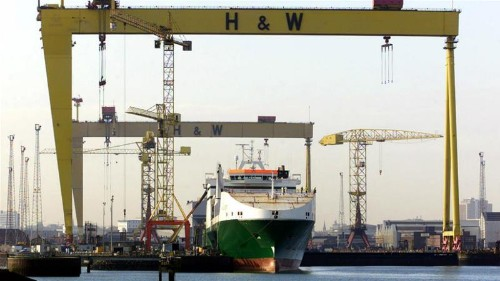Harland and Wolff workers get back to work after shipyard saved