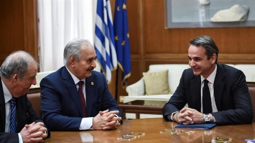 En route to Berlin, Haftar holds talks with top Greek officials