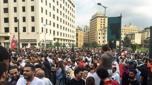 In Pictures: Lebanon protesters demand 'fall of the regime'