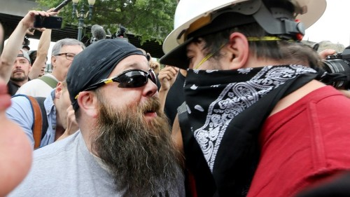Far-right rally, counterprotests face-off in US city of Portland