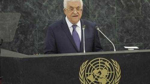 Abbas urges international pressure for Israel