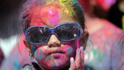 'Festival of colours': Hindus celebrate Holi