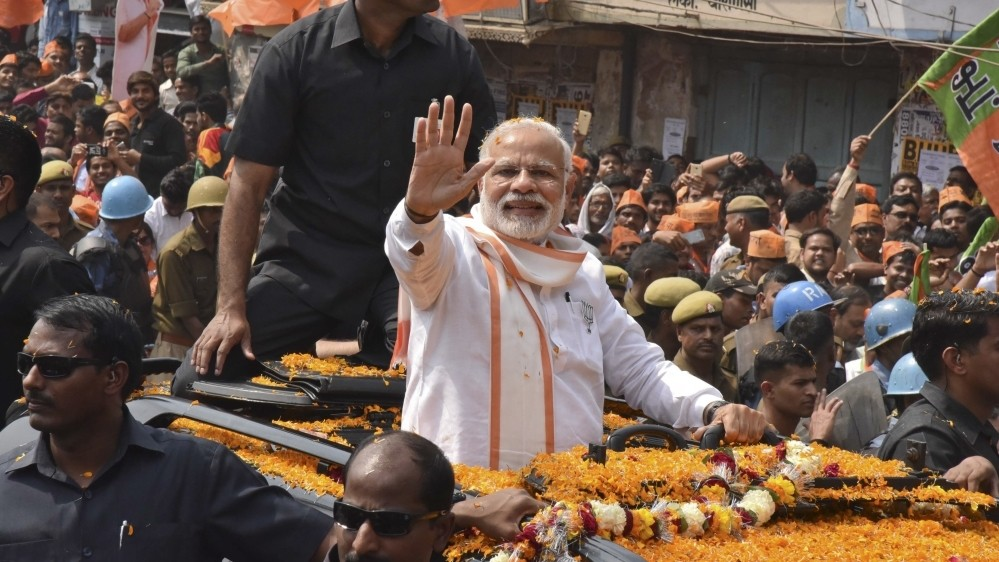 PM Modi's party takes firm lead in state elections