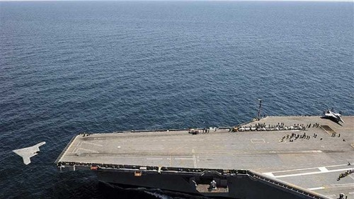 US navy launches carrier-borne drone