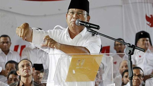 Prabowo rejects Indonesian election process