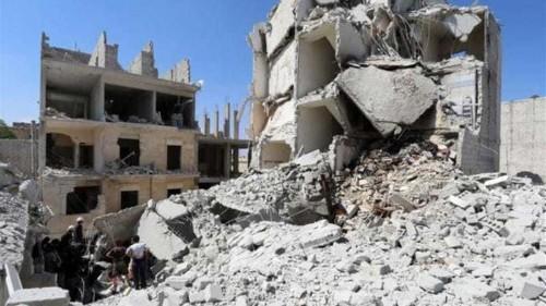 Syrian children 'torn apart' by barrel bomb