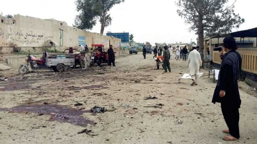 Protesters killed in bombing in Afghanistan's east