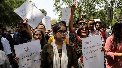 India journalists decry 'escalating attacks' on press freedom