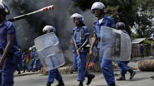 Three killed as thousands take to Burundi's streets
