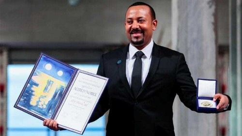 What message does Ethiopian PM Ahmed Abiy's Nobel win send?