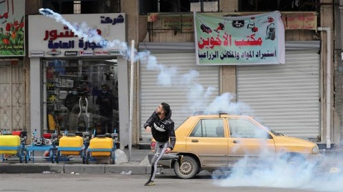 Tensions high in Baghdad as police fire tear gas, live bullets