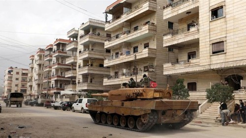 Blast kills four in Syria's Afrin held by Turkey-backed rebels
