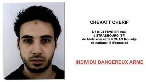 French authorities issue wanted poster for Strasbourg attacker