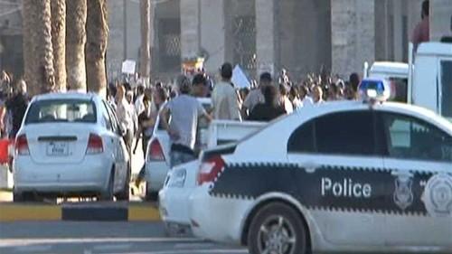 Libya protesters clash over renegade general