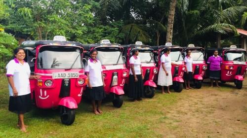 The pink tuk-tuks of Sri Lanka empowering and protecting women