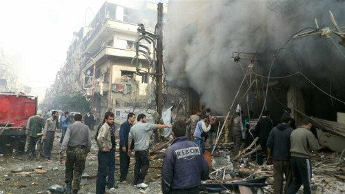 Many killed and injured in air strikes on Syria's Douma