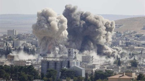 New coalition air strikes hit ISIL in Kobane