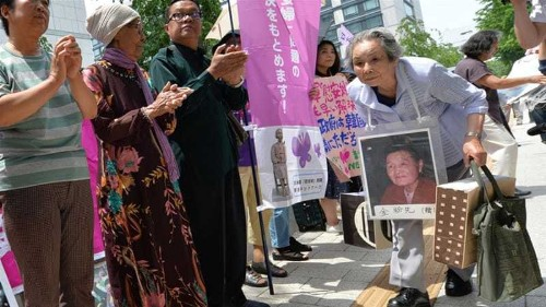 Japan's 'comfort women' battle spills into the US