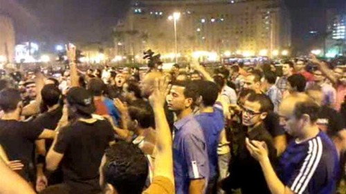 Egypt anti-coup rally held in Tahrir Square