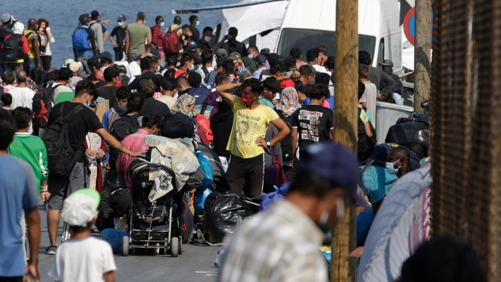 After Moria fire, refugees decry conditions in new camp on Lesbos