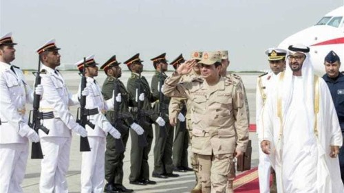Egypt's Sisi in UAE in first visit to Gulf