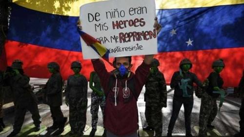 Maduro's image cracks under protest pressure