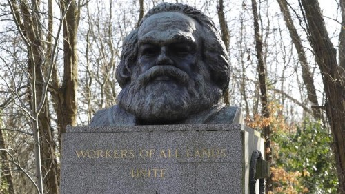 Marx memorial vandalised in London for second time in February