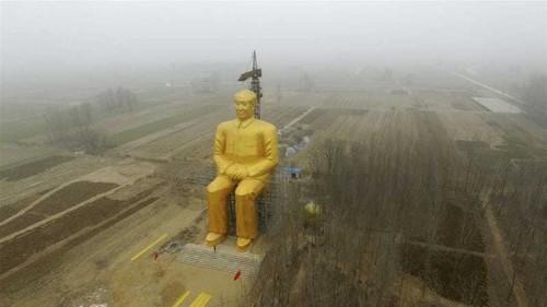China's giant Mao Zedong statue 'demolished'