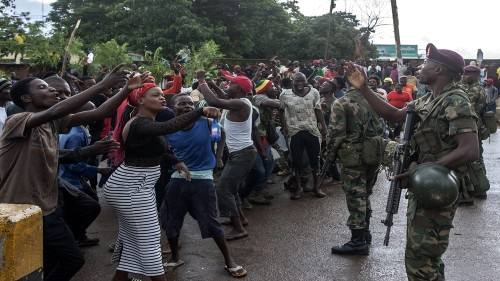 Protesters padlock Malawi electoral commission offices