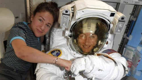 NASA moves up first all-woman spacewalk to fix power unit