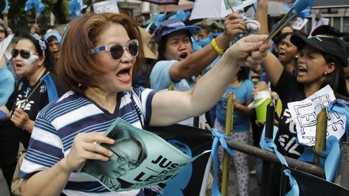 Rights groups demand release of Duterte critic Leila de Lima