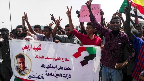 Hundreds march in Sudan to honour 'martyrs' of protests