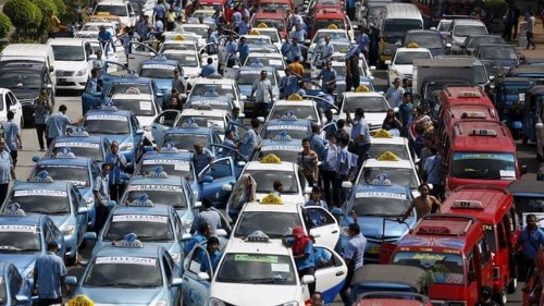 Indonesia's Jakarta shut down by taxi-driver protest