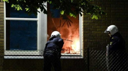Rioting spreads outside calmer Stockholm