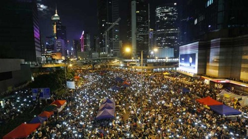 Hong Kong leader: Protesters have zero chance