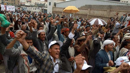 Yemen capital gripped by huge rival protests