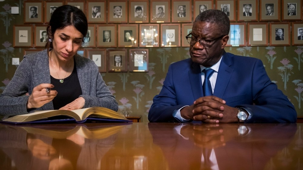 Nobel Peace Prize winners seek justice for war rape victims