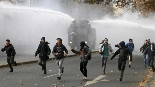 Tear gas used at Chile protest over education